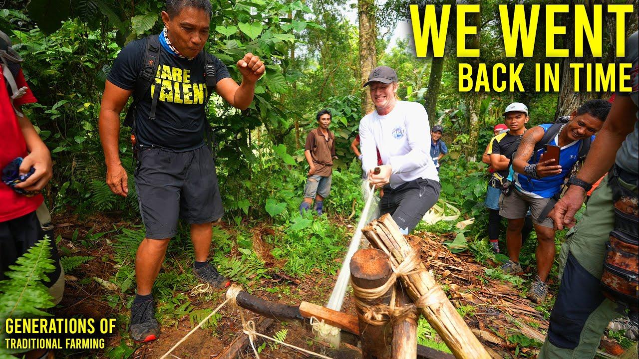 PHILIPPINES ORIGINAL ABACA SHREDDING - (HARD Mountain Work)