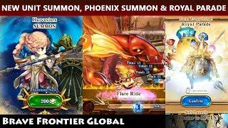 New Unit Cicely Lars Summon, Phoenix Summon & Royal Parade (Brave Frontier TLS)