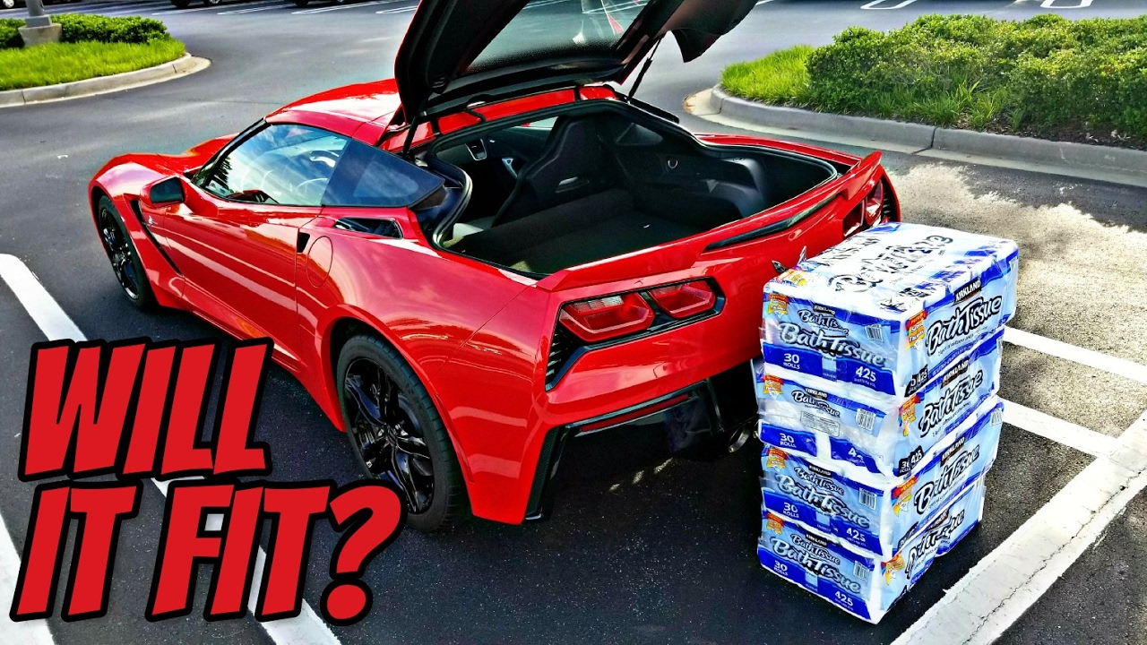 Will It Fit Testing The Trunk Capacity Of My Corvette Youtube