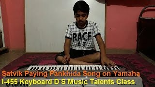 Young boy plays keyboard//Satvik D S Music Talents