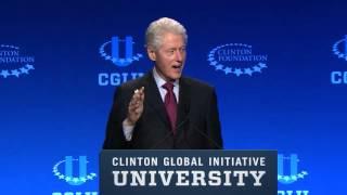 الشجاعة خلق: الرئيس بيل كلينتون في افتتاح - CGI U 2016