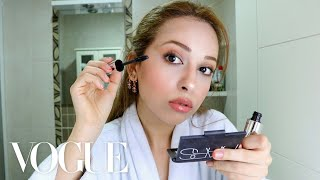 Pretending I'm in a Vogue Beauty Secrets Video | My Skincare and Fox Eye Makeup Routine