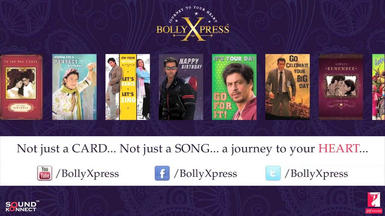 Bollywood Greeting Cards by BollyXpress Featuring Yash Raj Films – Bollywood Birthday Card