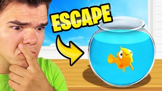 I Became A FISH And ESCAPED My BOWL! (I Am Fish)