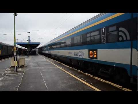 MÁV Hungary WiFi InterCity with Traxx and Halberstadt cab car in Debrecen in HD