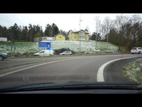 Sweden, driving from Farsta Strand to Haninge Centrum