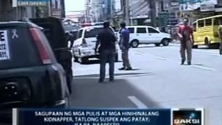 Saksi: 3 hinihinalang kidnapper, patay sa shootout sa Davao City; isa pang suspek, arestado