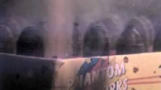 high speed slow motion video of phantom fireworks saturn v battery shot at 10 000 fps