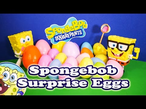 Opening Spongebob Squarepants Surprise Eggs for Toys