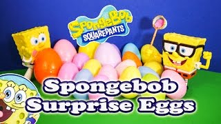 SPONGEBOB Nickelodeon Spongebob Squarepants Surprise Eggs a Spongebob Surprise Egg Video