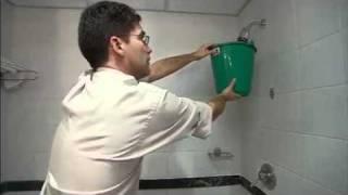 Saving water in hotels – flow measurement (Greek)