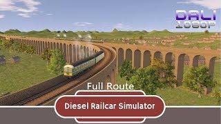 Diesel Railcar Simulator Full Route PC Gameplay 1080p 60fps