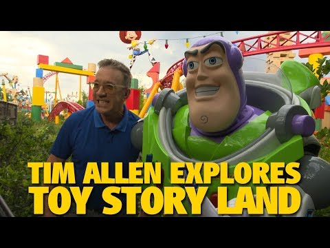 Tim Allen Explores Toy Story Land  Walt Disney World