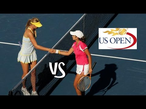 Sharapova vs Mirza | 2005 US Open Highlights