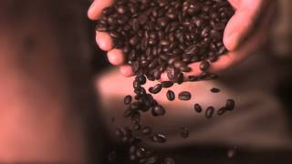 C Coffee beans slow motion