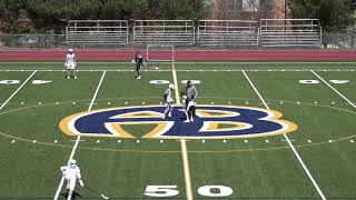 Acton Boxborough Varsity Boys Lacrosse vs Andover 3/31/18