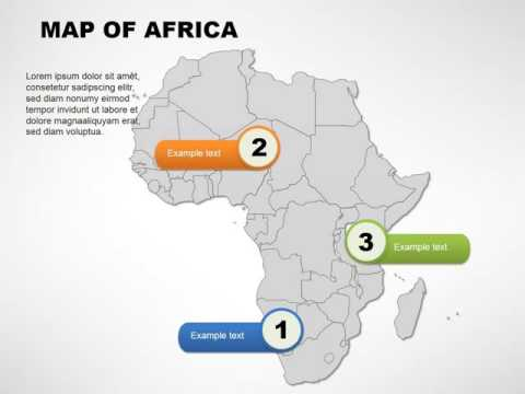 Africa maps  - Africa Editable PowerPoint maps