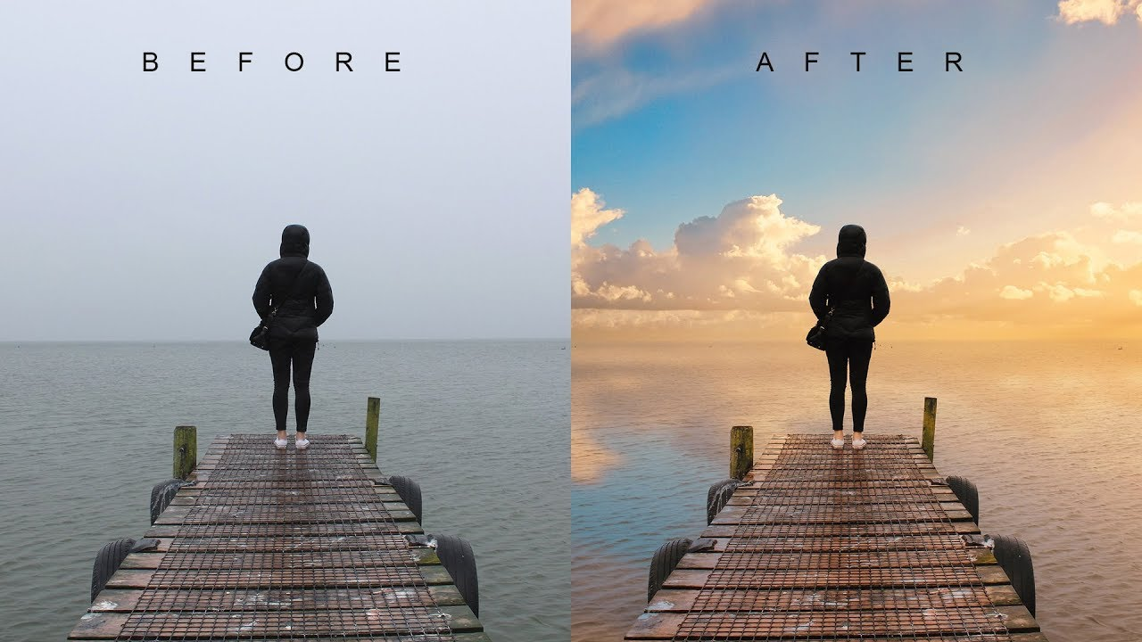 d5b20f7b0f How to Change Overcast Photos into Awesome in Photoshop - Add Sunset to  Boring Sky Easily   Quickly