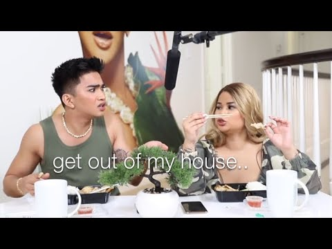 bretman rock dragging his sister for 1 minute straight thumbnail