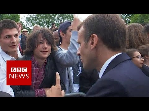Macron tells teen to call him 'Mr President' - BBC News