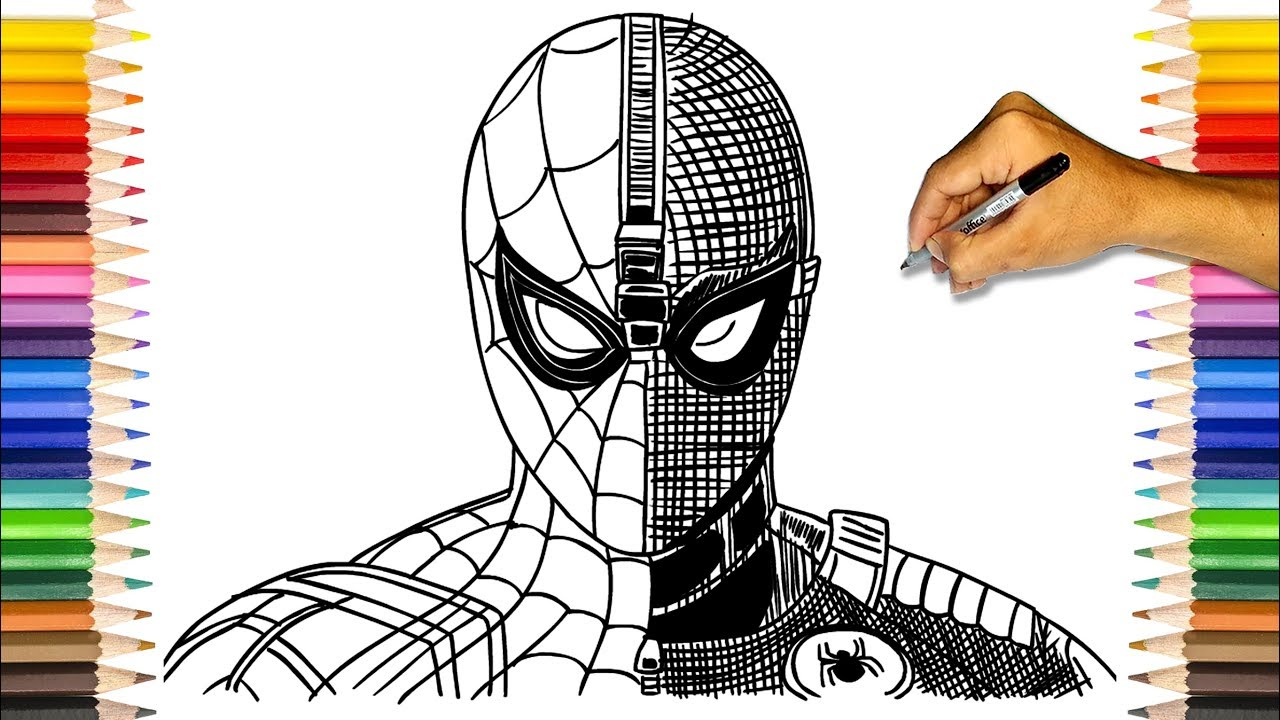 Spider Man Coloring Book Iron Spider And Spider Man Stealth Suit Coloring Pages Youtube