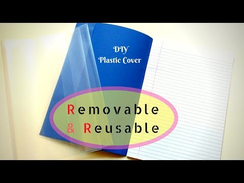 Creative Plastic Book Safety Cover DIY + Brown Paper Book Covering Tutorial
