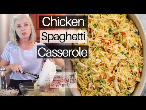 Chicken Spaghetti Casserole | QUICK And EASY Pasta Bake