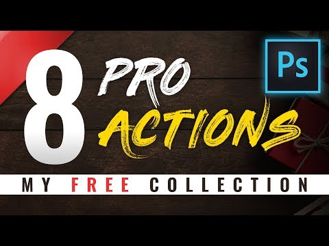 8 PRO Effects Photoshop Actions By Webflippy!