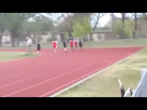 Hes is going to be a track star