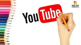 How to Draw Youtube Logo | draw brand Logo