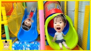 Indoor Playground Fun for Kids and Family Play Slide Rainbow Colors Ball Run | MariAndKids Toys