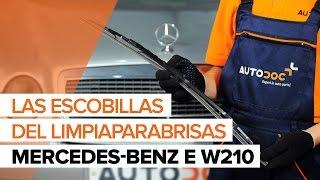 Reemplazar Plumas limpiaparabrisas MERCEDES-BENZ E-CLASS: manual de taller
