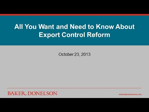 All You Want and Need to Know About Export Control Reform