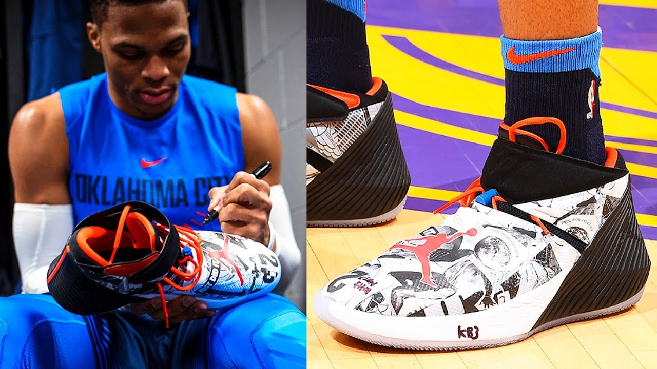Russell Westbrook Debuts His Signature Shoe - Jordan Why Not Zer0.1 ... 905c088a9b3a