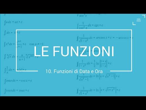 Funzioni di Data e Ora - Excel Facile