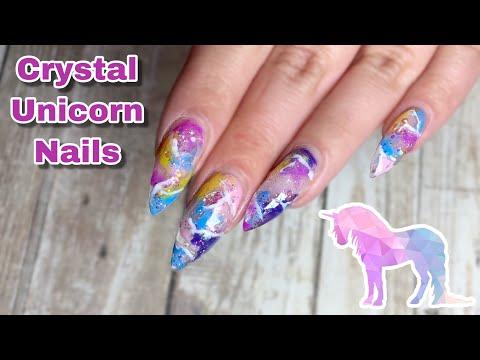 Crystal Unicorn Nail Tutorial thumbnail