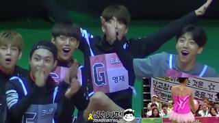 B A P and KNK reaction to WJSN Cheng Xiao during ISAC 2016 Rhythmic Gymnastics