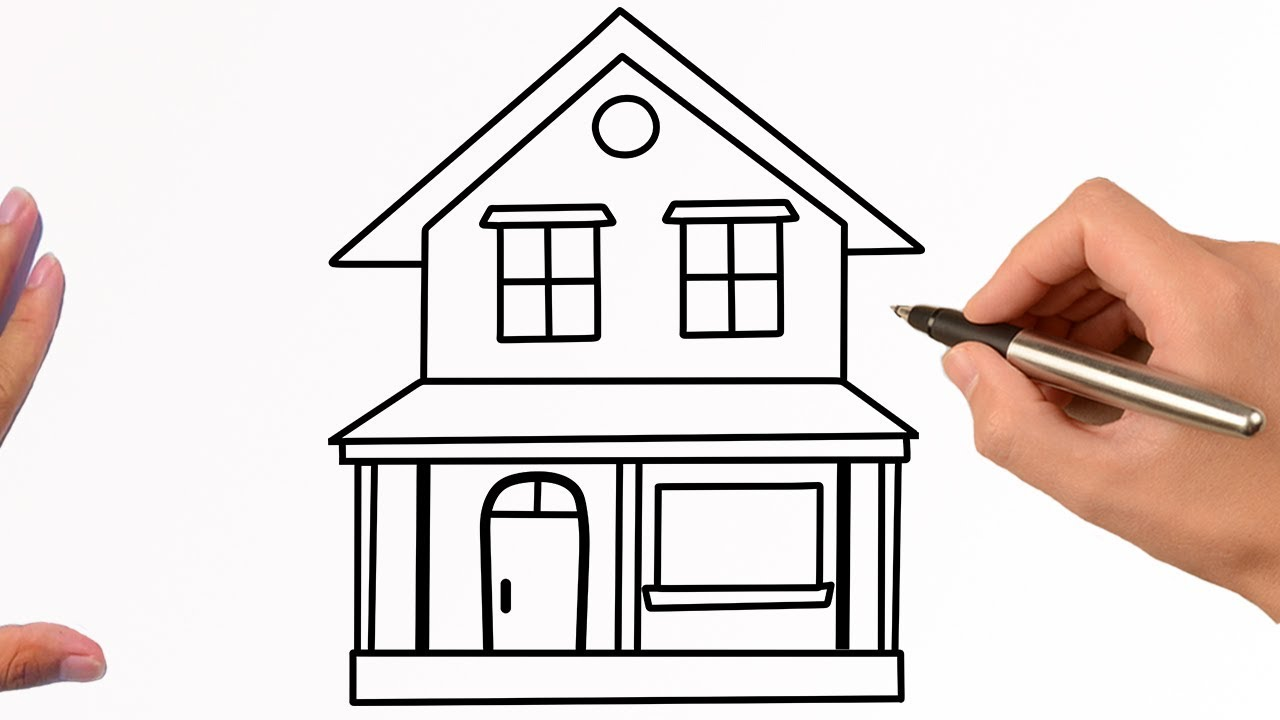 How to Draw A House Easy Step By Step For Beginners Easy