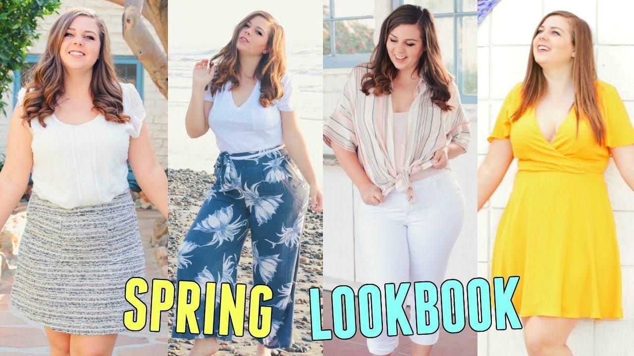 060599eb35b0 Curvy Spring Lookbook 2018! Spring Outfit Ideas For Curvy Girls ...