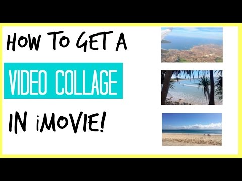 How do you create a video collage on facebook