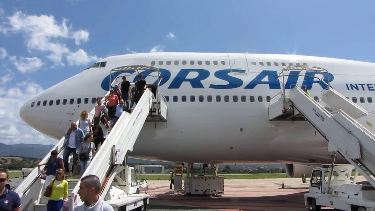 flight report corsair paris ajaccio boeing 747 400 premium eco youtube. Black Bedroom Furniture Sets. Home Design Ideas