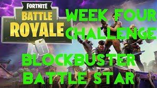Fortnite Battle Royale | Season 4 Week 4 | Blockbuster Secret Battle Star Location Guide