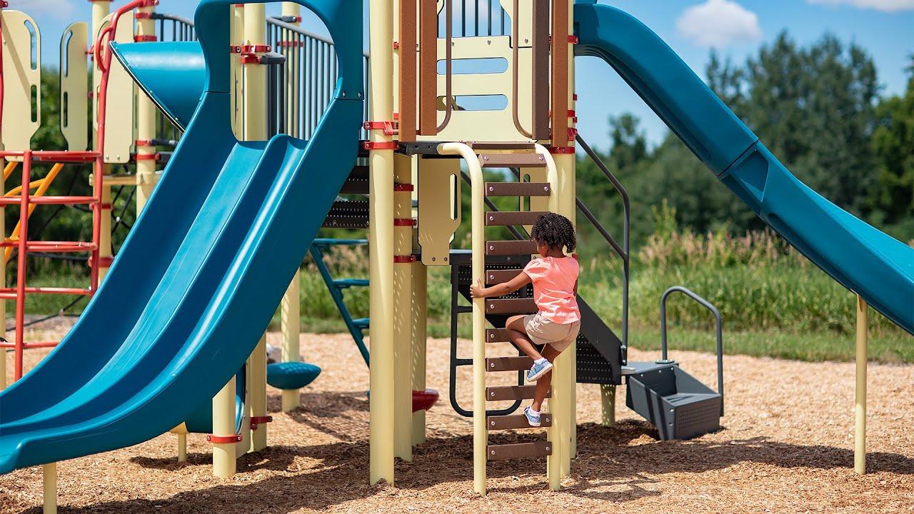 Wood Plank Ladder - PlayBooster® - Landscape Structures
