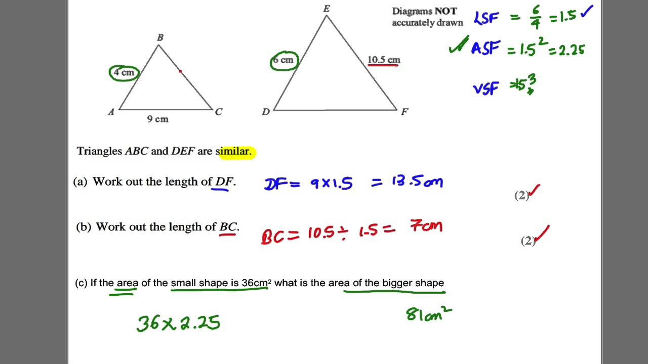 hight resolution of Congruent and Similar Triangles (examples