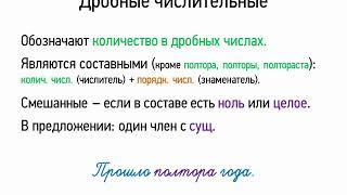 Дробные числительные (6 класс, видеоурок-презентация)
