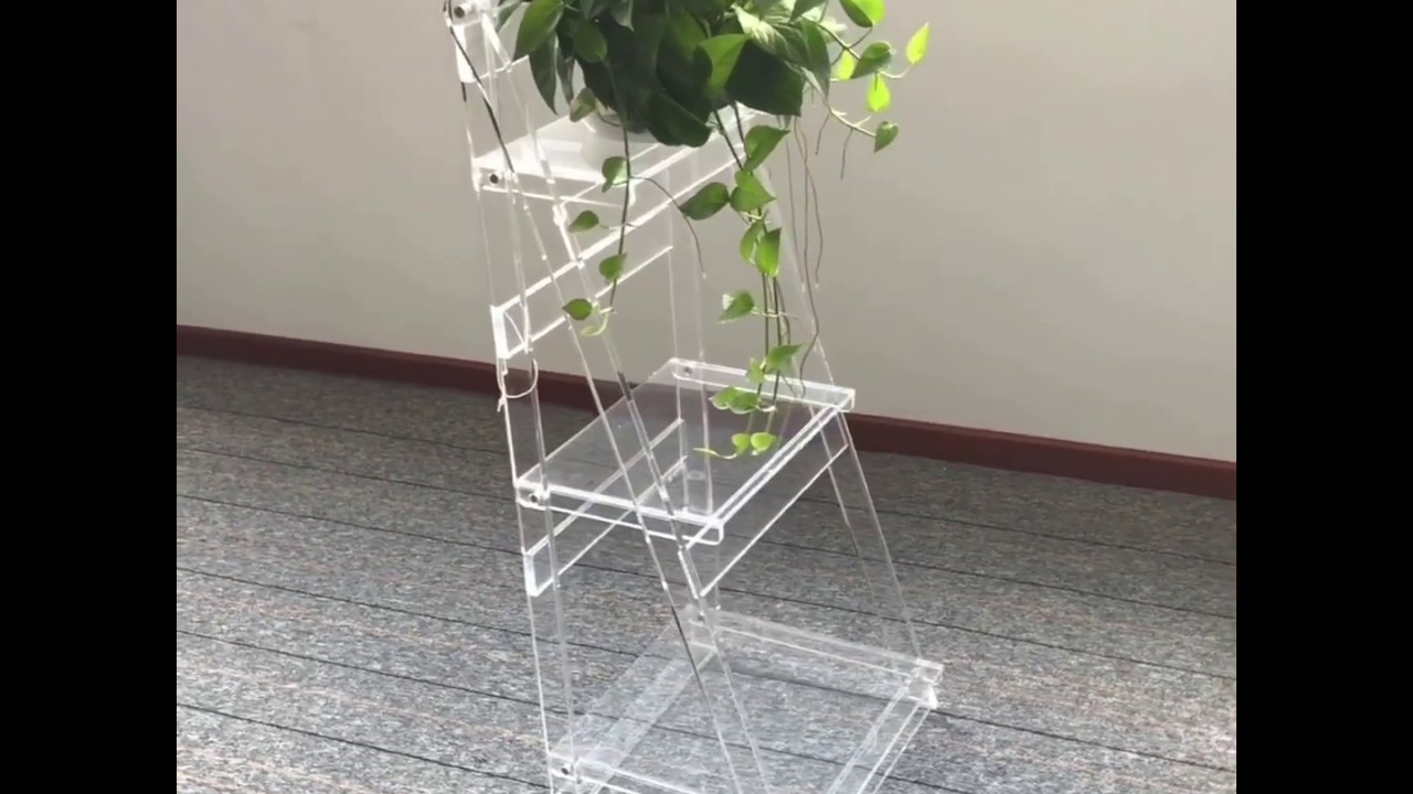 3 tier plant step, acrylic ladder plant stands, display stand step,