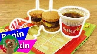 手工制作 Popin Cookin 日本料理自制 美味汉堡薯条套装