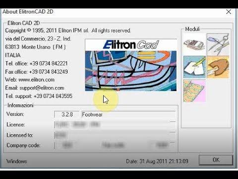 Elitron CAD 2D 3 .2 .8 Running On Windows 64 Bit