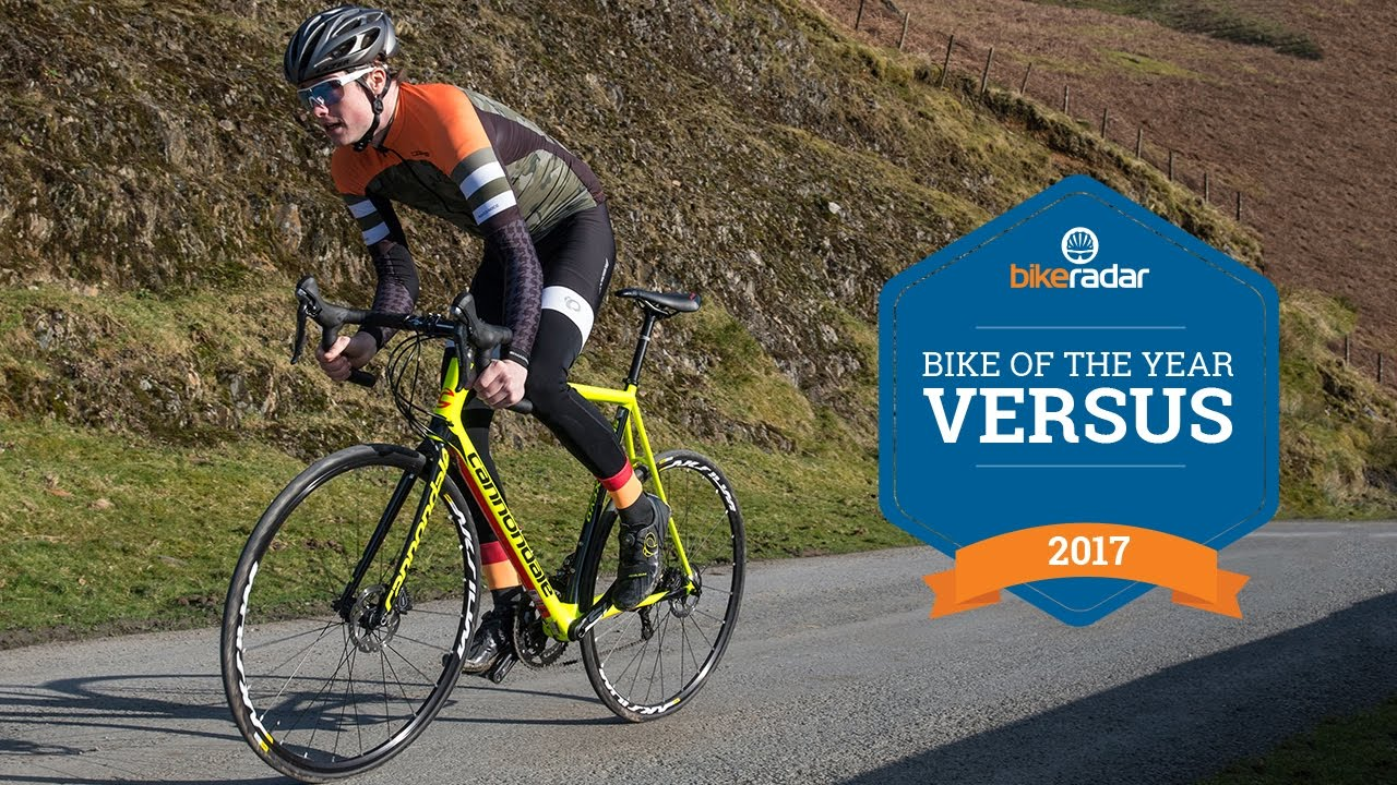 45afd6e337e Road Bike Of The Year - Disc Race Bikes - Giant TCR Vs. Cannondale SuperSix