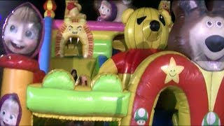 toys kids balloon slide masha and the bear playground slides for kids fun outdoor   qyla   inas